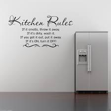 Kitchen Stencil Kitchen Rules Wall Art Sticker Kitchen Quote Decal Mural Stencil