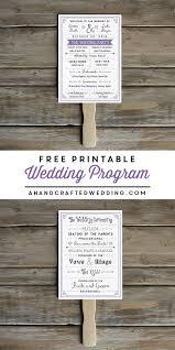 Free Printable Wedding Ceremony Programs Free Printable Wedding Program Crafty 2 The Core Diy Galore