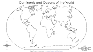 Coloring Pages World Map With Continents Printable New In Coloring