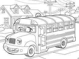 Small Picture Printable Bus Coloring Sheets School Bus Coloring Page For Kids