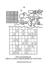 Kleurplaat Sudoku Kleurplaten Spelletjes