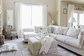 neutral white living room design