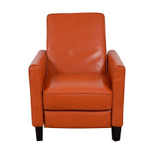 christopher knight home christopher knight home darvis orange bonded leather recliner club chair recliners