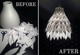 modern diy paper chandelier lovely my new handmade diy paper feather lamp my diy than luxury