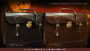 2 compartments flapover case bridle leather men s business bag reprint edition leather bag briefcase