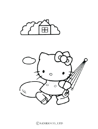 Halloween Hello Kitty Coloring Pages Hello Kitty Coloring Page Free