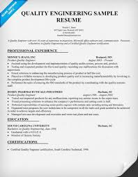 quality engineering resume sample resumecompanioncom entry level engineering resume