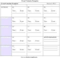 Event Calendar Custom Template Free Monthly Event Calendar Template Of Events Word With