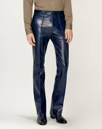 dunhill bootcut leather trouser jeans man f
