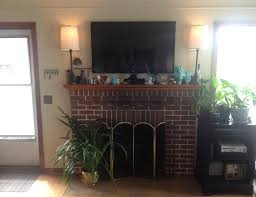 are you interested in mounting tv above fireplace. A Larger Shot Of Our TV And Surrounding Elements. Are You Interested In Mounting Tv Above Fireplace T