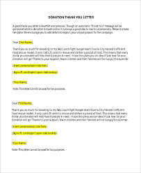 Fundraising Thank You Letter Templates Sample Donation Thank You Letter 10 Examples In Word Pdf