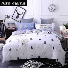 100 cotton bedding set king size nordic duvet cover set custom size bed clothes grey