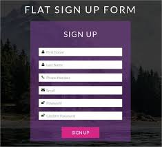 20 Html5 Signup Registration Forms Html Css Free