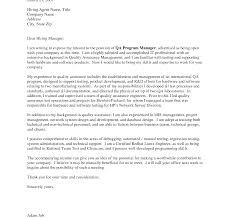 Software Quality Assurance Analyst Cover Letter Example Sample