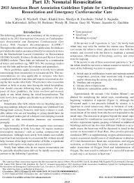 Part 13 Neonatal Resuscitation Circulation