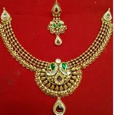 Gold Jadtar Set Design Buy Quality Antique Gold Ladies Fusion 916 Necklace Set In