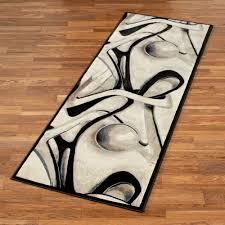 raven rug runner cream 27 x 74