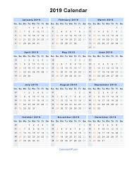 2019 Calendar Printable By Month 2019 Calendar Blank Printable Calendar Template In Pdf Word Excel