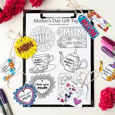 Gift Tag Coloring Page Mom Gift Tags Template 8 Mothers Day Printable Gift Tags