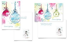 Greeting Card Samples Whimsical Ornaments Greeting Card Template Design