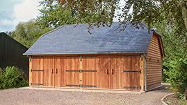 oak framed garage outbuilding in warwickshire