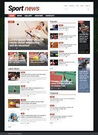 Website Template Newspaper Sports News Joomla Templates