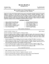 sample resume marketing marketing manager resume example