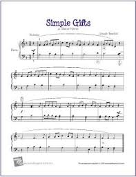 simple gifts free sheet for piano solo