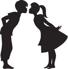 Image result for almost kissing silhouette