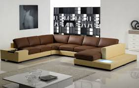 Two Tone Living Room Furniture Modern Sectional Sofa Grey Furniture Sectional Couches Design