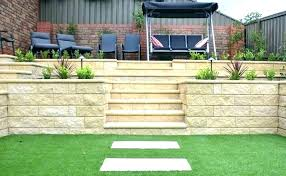 block wall ideas walls designs retaining garden design example concrete blocks glass half extension