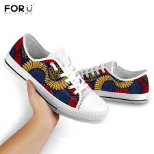 Floral Design Shoes For Ladies Big Offer 8925b Forudesigns Tribe African Floral Pattern
