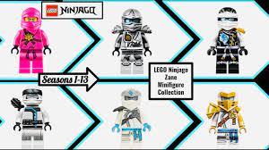 LEGO Ninjago Zane Minifigure Collection Season 1-13 (2011-2020) - YouTube