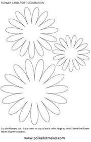 Flower Templates For Paper Flowers Template Flower Modelos De Flor De Papel Flores De Feltro