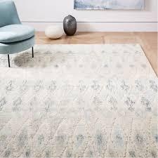 textured ikat wool rug light pool