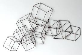 wire wall art cubed cubic modern home simple decor s wire wall art