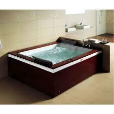 acrylic flatbottom whirlpool bathtub in white