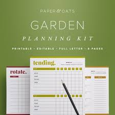 Garden Design Journal Fascinating Garden Planner Garden Calendar Garden Planning Kit Planting Etsy