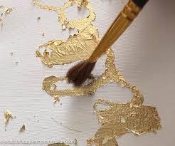 diy gold leaf canvas the happier