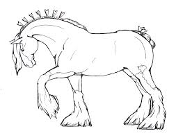 Clydesdale Horse Coloring Pages At Getdrawingscom Free For