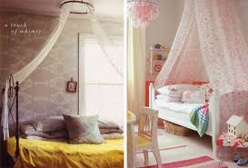 You can mount a single hoop or curtain rod to the ceiling in the middle of  your bed and drape fabric from it over the ends of your bed.