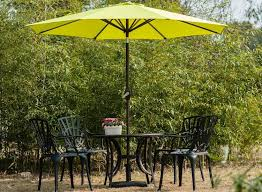rapid delivery for 9 feet market patio umbrella tilt and crank 100 polyester 8 steel ribs apple green for slovakia importers