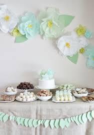 tissue paper flower decor for garden tea party