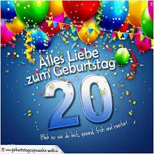 Gluckwunsche Zum 20 Geburtstag Lustig Design