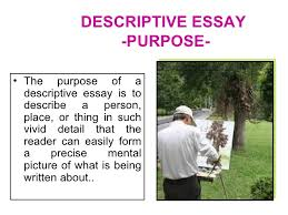 description of a person descriptive essay