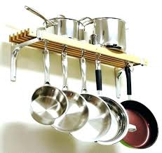 wall mounted pot and pan racks kitchen hanging rack pots and pans hanging rack wall mount