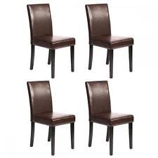 faux leather dining chairs ebay. set of 2/4/6/8/10 pcs black/brown leather faux dining chairs ebay r