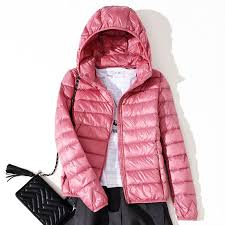 Light Down Jacket Womens Womens Jackets Winter Jacket Ultra Light Down Jacket Hooded