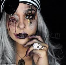 inspired make up artist and body painter eva la morte pictured