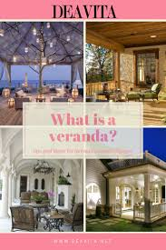 What is a veranda? What is the difference between a veranda, a porch balcony